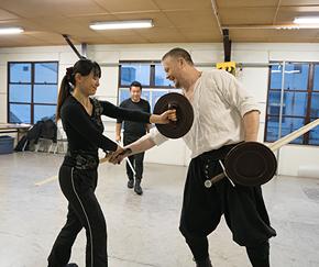 中世西洋剣術に関する指導および振り付け